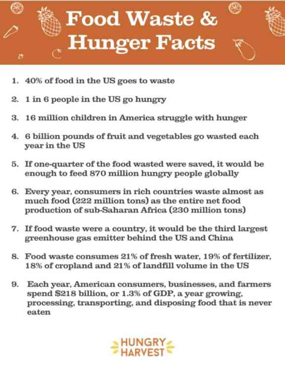 Food Waste and Hunger Facts: Hungry Harvest