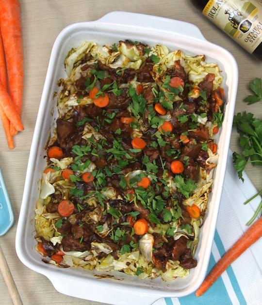 Stout, Seitan, and Cabbage Casserole recipe