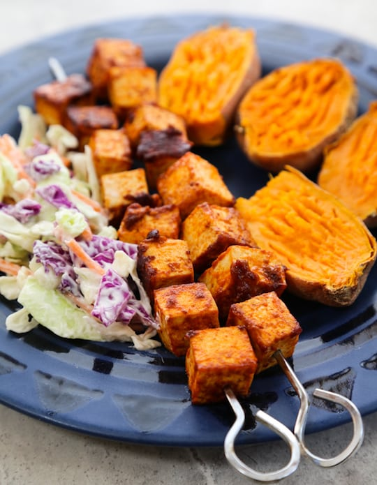 BBQ Tofu Skewers d