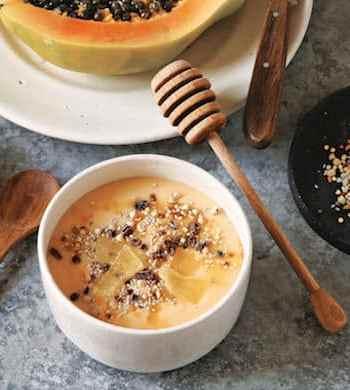 Mango Papaya Smoothie Bowl