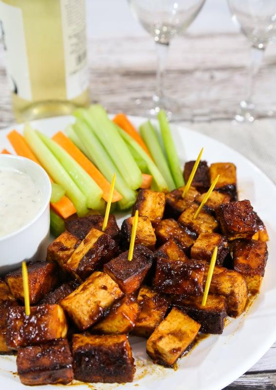 Easiest Buffalo Tofu bites