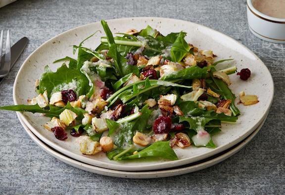 Roasted Fennel & Hazelnut Salad with Shallot Dressing from Veganomicon