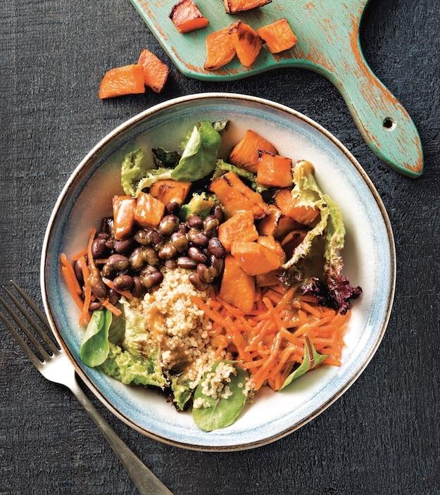 Cumin lime black bean and quinoa bowl
