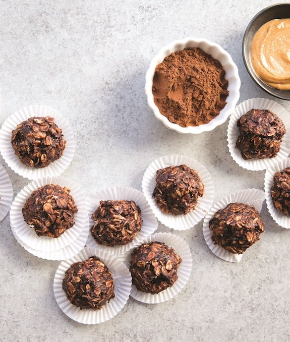 No Bake Chocolate Peanut Butter Drops