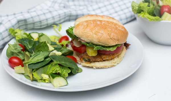 Chickpea and Sweet Potato Burger