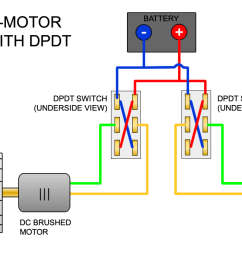 steering two motors with reverse polarity dpdt switch diagram [ 1200 x 693 Pixel ]