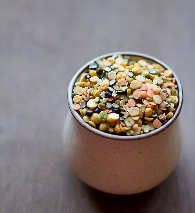 five mixed dal in a cup