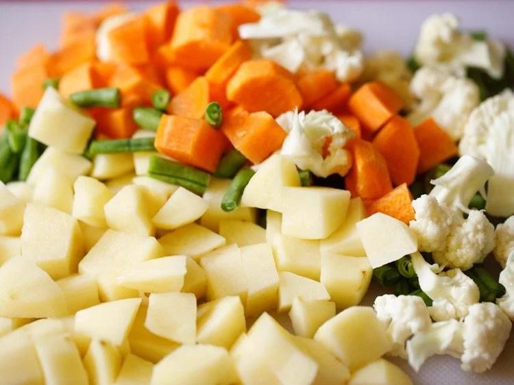 veggies for pav bhaji recipe