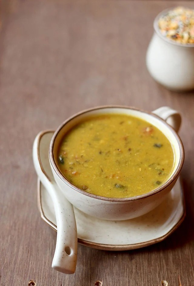 panchmel dal served in a bowl