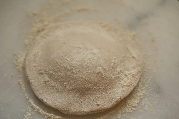 some flour added to paratha