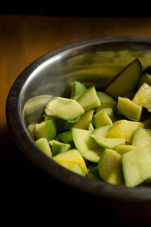 mango pickle recipe  aam ka aachar recipe  punjabi mango