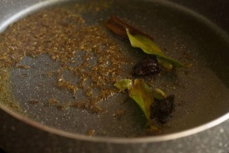 tempering spices in hot oil