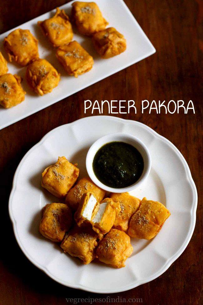 paneer pakora recipe, how to make paneer pakora recipe