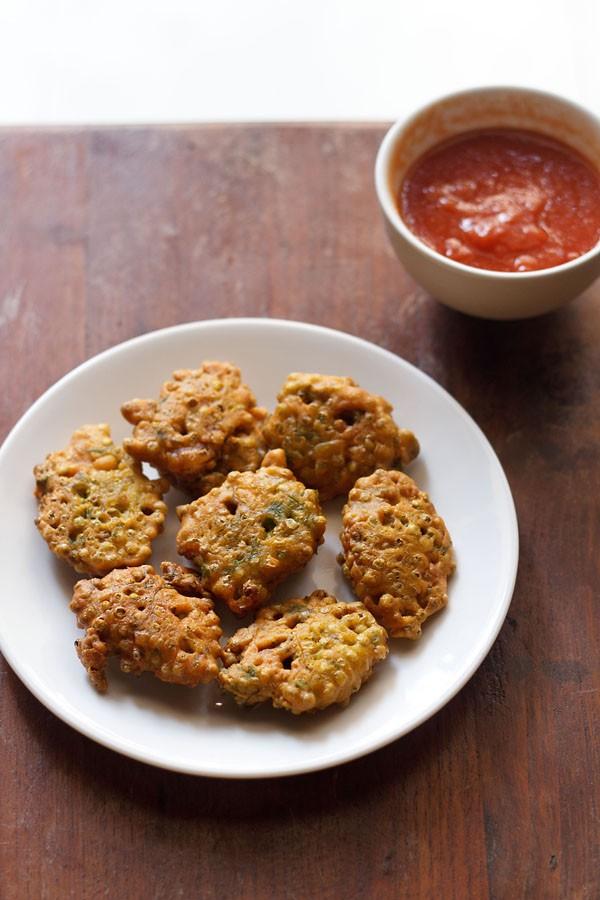 hurda bhaji recipe, hurda pakora recipe