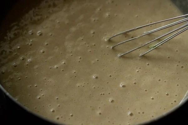 making lemon muffin batter
