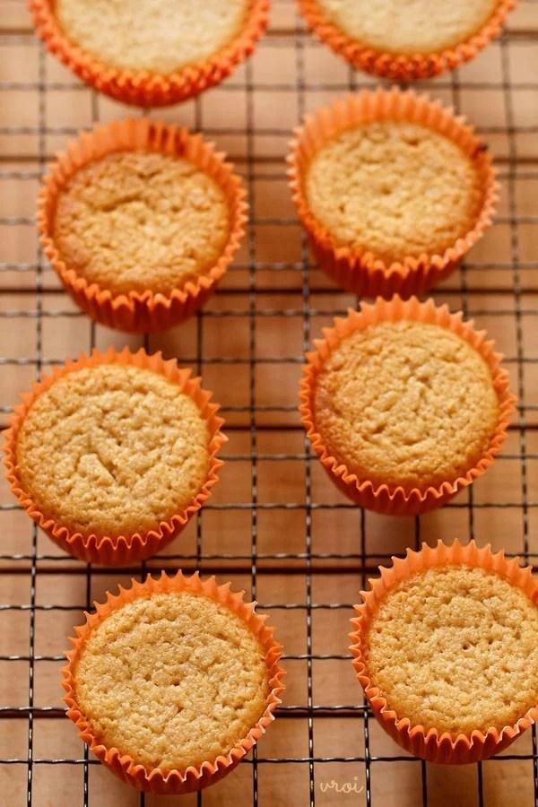 vegan lemon muffins on wired tray