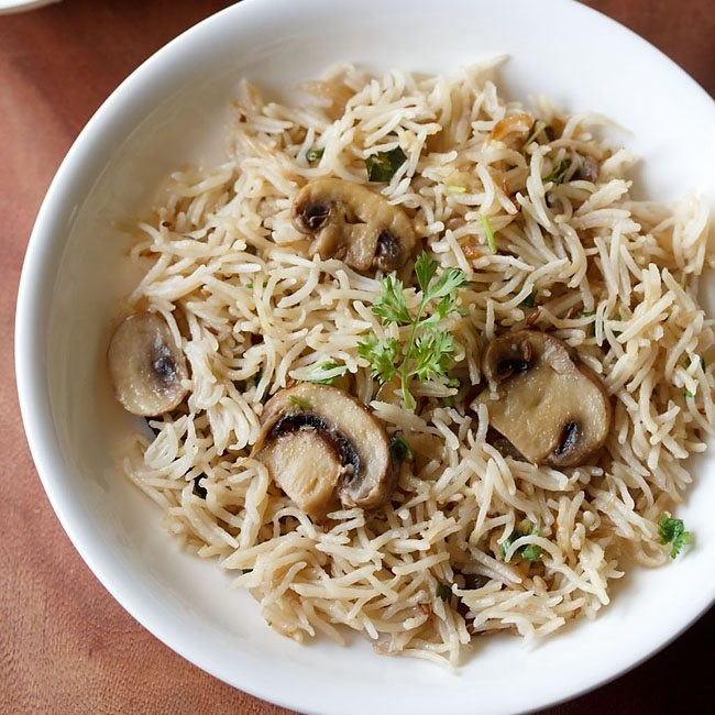 Image result for Mushroom pulao recipe for kids images
