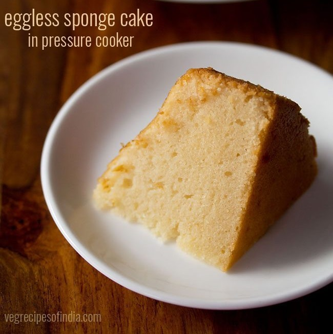 Cooker Cake Recipe How To Make Cake In Cooker Eggless Sponge Cake