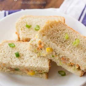coleslaw sandwich served in a white plate
