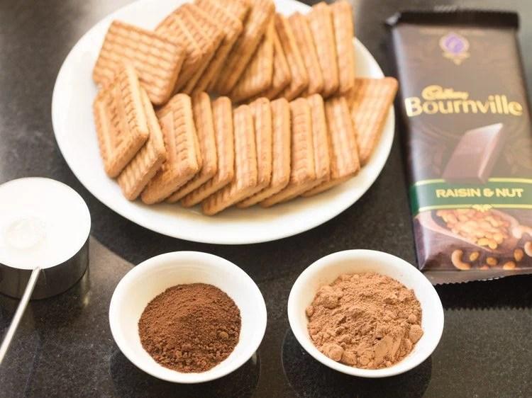 ingredients for making biscuit cake recipe