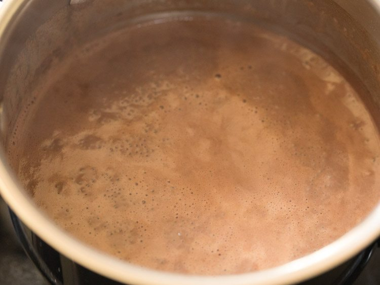 bring this cocoa mixture come to a boil
