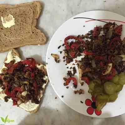 طريقة تحضير ساندويش بروتين الصويا النباتي الشهي