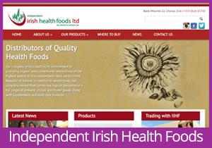 Independent Irish Health Foods website
