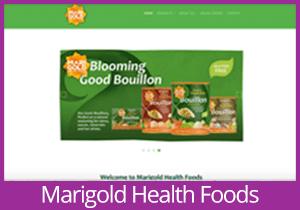 Marigold Health Foods website