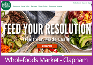 Wholefoods Market - Clapham website