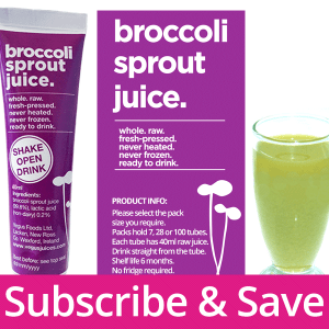 Subscribe Broccoli Sprout Juice
