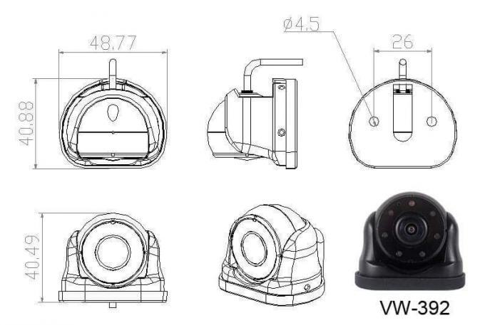 130 Degree Bus Surveillance Camera , AHD Vehicle DVR