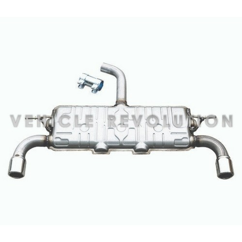 Golf MK6 GTI Dual Muffler Outlet Exhaust System With Tips