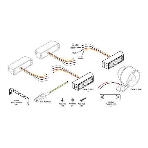 SHO-ME ATV Kit w/ Siren & Handlebar Switch 12.10ATV