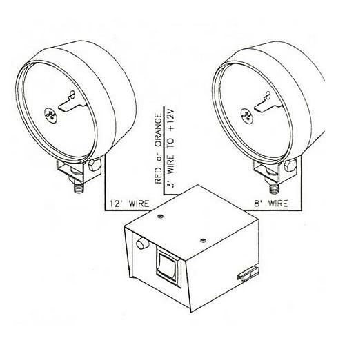 SHO-ME 17 Series 2 Spot Alternating Flashing Lights 17.0842