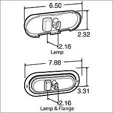 Truck Lite Super 60 LED Side Turn Signal & Marker Oval