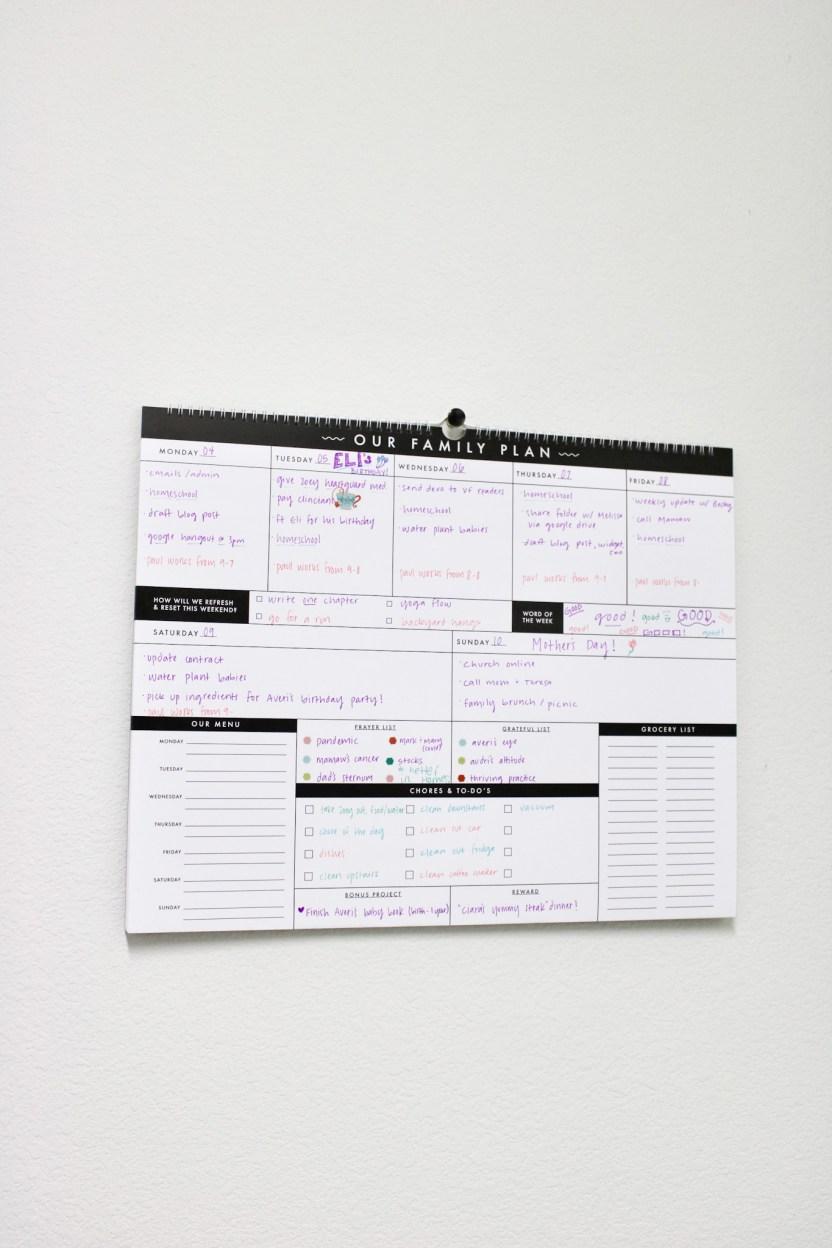 family plan calendar