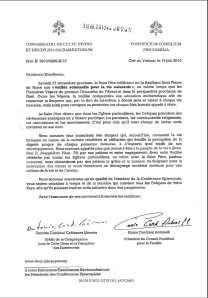 Lettre de 2010 du Vatican