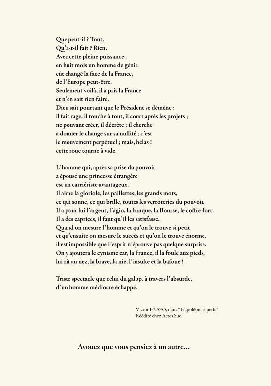 ... vu par Victor Hugo
