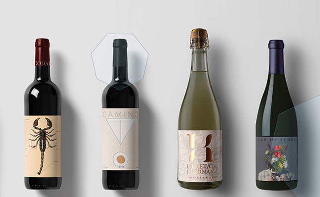diseño de etiquetas de vino post