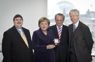 Angela Merkel il Premio europeo nel 2010