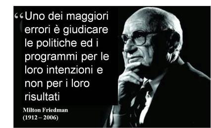 Milton Friedman uno dei errori