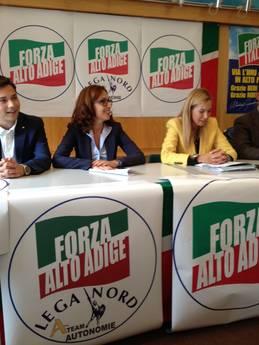 Presentato tandem Forza Alto Adige e Lega Nord A-Team
