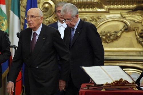 Quirinale, giuramento del Governo Monti