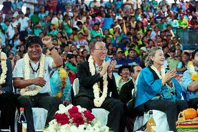Bolivia-Evo Morales-Ban Ki-moon