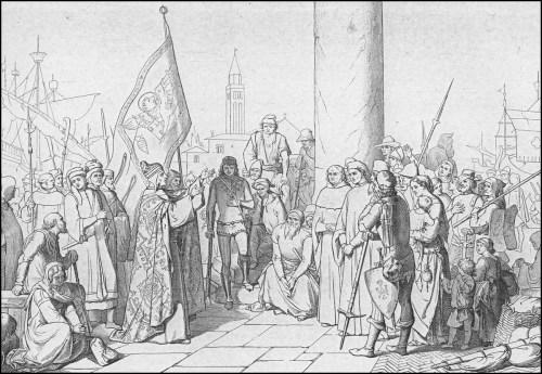 giuseppe gatteri 1379 il doge incoraggia i veneziani