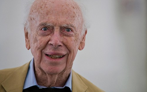 CA4032 James Watson, co-discoverer of the structure of DNA in 1953, pictured at The Telegraph Hay Festival Hay-on-Wye, Powys, Wales, UK