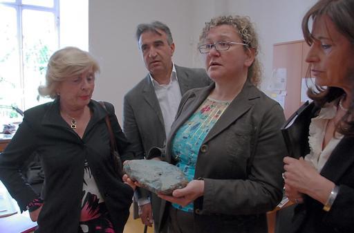 commissione cultura all' arsenale per reperti blu - per Battista
