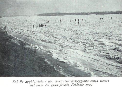 febbraio 1929 fiume po ghiacciato
