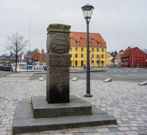 0-km sten Skælskør
