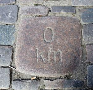 0-km sten Nytorv Viborg